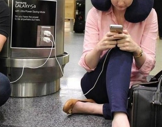 Samsung Expands Anti-Apple 'Wall Huggers' Advertisement to Airports