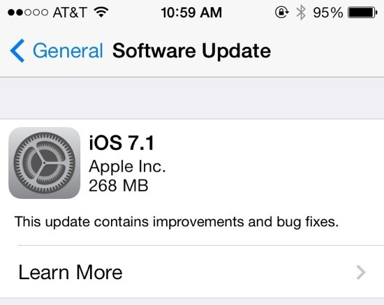 Apple Releases iOS 7.1 With CarPlay, Touch ID Improvements, Visual Tweaks