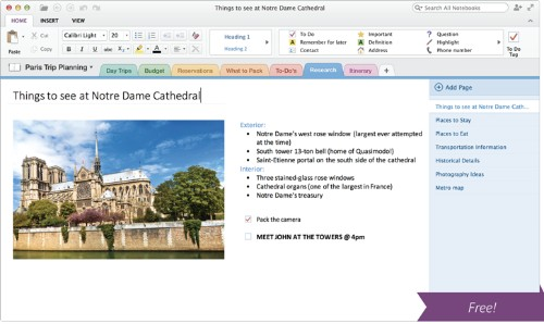 Microsoft Releases OneNote as a Free Mac App Store Download