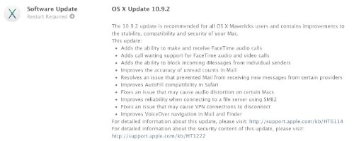 Apple Releases OS X 10.9.2 With Fix for Major SSL Vulnerability, FaceTime Audio