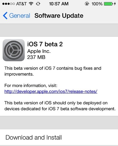 Apple Seeds iOS 7 Beta 2 to Developers with iPad and iPad Mini Support