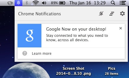 Google Now Officially Comes to Chrome for Desktop