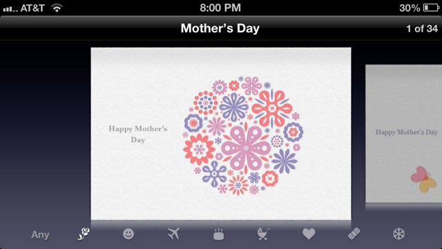Apple Promotes Mother's Day on Online Store and 'Cards' App