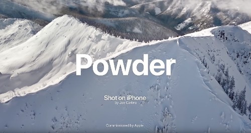 Apple Shares New 'Powder' Shot on iPhone Video