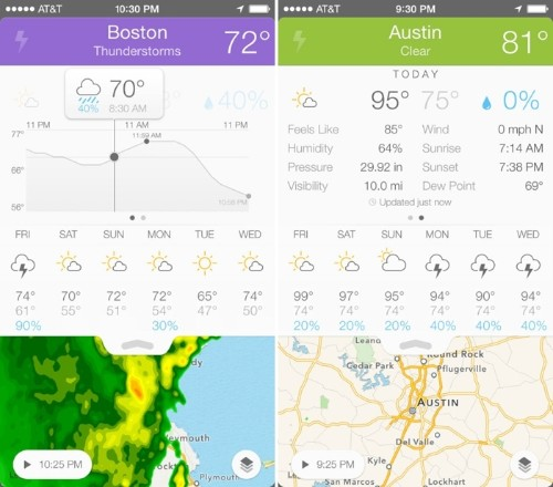 'Perfect Weather' Offers Detailed Weather Forecasts at a Glance