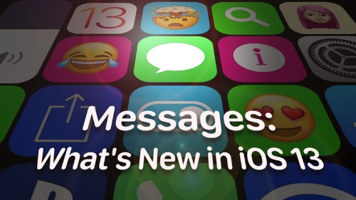 Messages: What's New in iOS 13