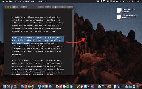 How to Use Text Clippings in macOS