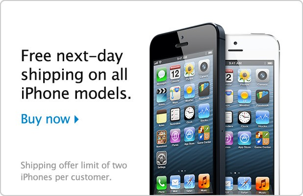 Apple Launches U.S. iPhone Promotion Offering Free Next Day Shipping On All Models