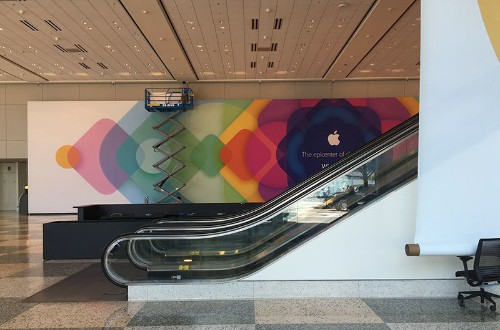 Apple Continues Decorating Moscone West for WWDC Ahead of Monday's Keynote
