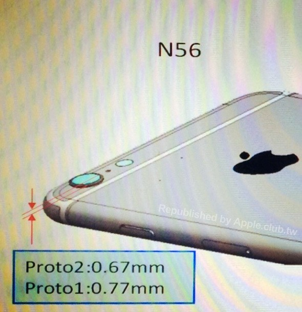 Alleged Schematic Shows Protruding Camera Ring on 4.7-Inch iPhone 6