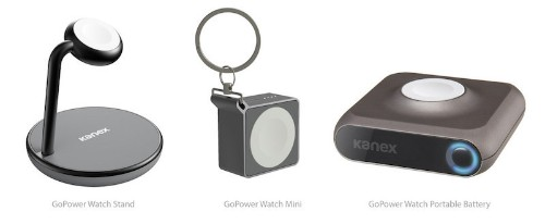 Kanex Announces GoPower Watch Stand and Mini Keychain Battery for Apple Watch