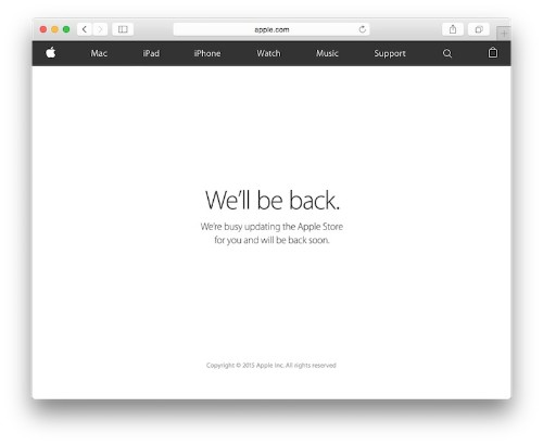 Apple Online Store Goes Down Ahead of 'Spring Forward' Media Event