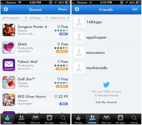 AppShopper Returns to the App Store With 'AppShopper Social' for iOS
