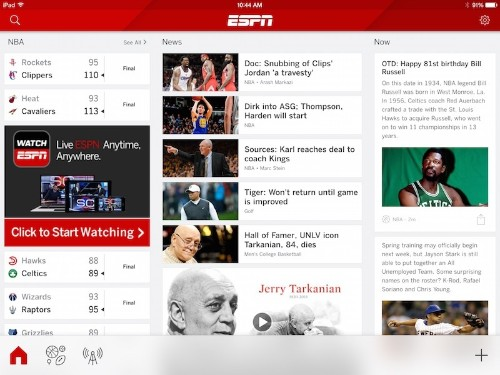 ESPN Merges iPhone and iPad Apps Together to Deliver Unified Experience