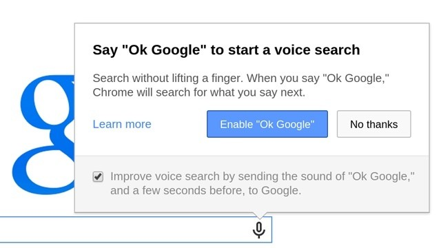 Google Removes 'OK Google' Search Activation in Latest Chrome Update