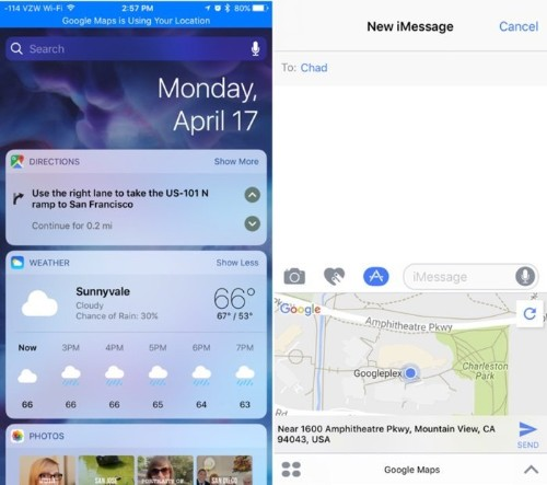 Google Maps for iOS Gains Directions Widget for Turn-By-Turn Navigation on Lock Screen