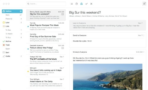 Email App 'Mailbox' for Mac Enters Open Beta, Available to All Users