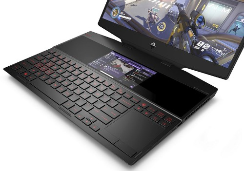 HP's New Dual-Screen Gaming Laptop Takes Apple's Touch Bar to the Next Level