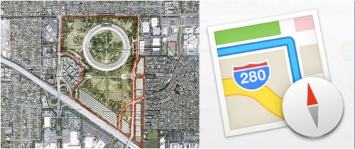 New Maps Icons Show Apple's 'Spaceship' Campus Location