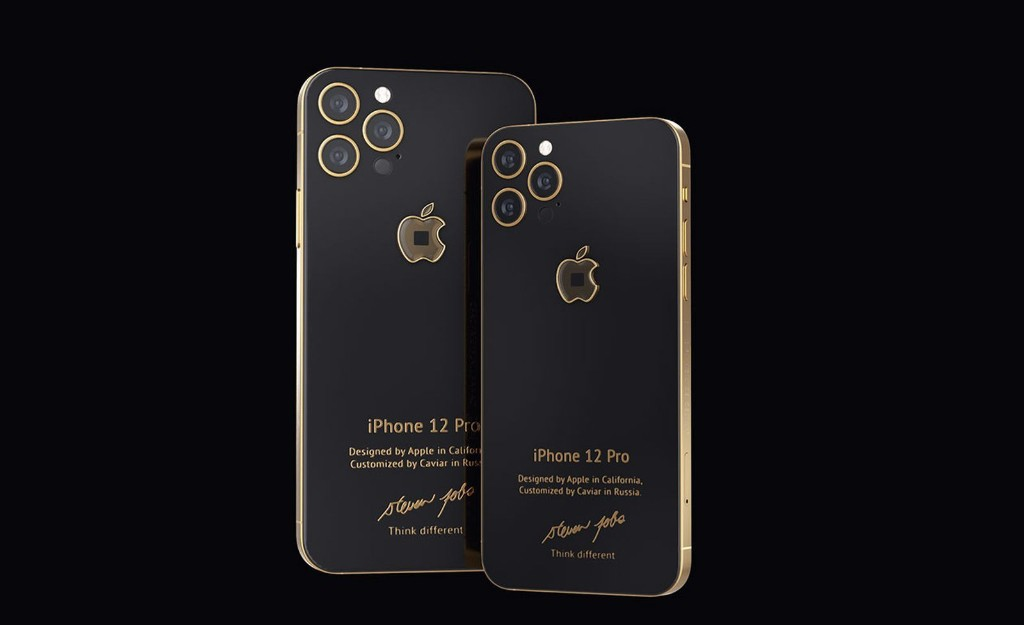 Caviar Launches $6,000+ Custom iPhone 12 Pro With Fragment of Steve Jobs' Original Turtleneck Embedded in Apple Logo