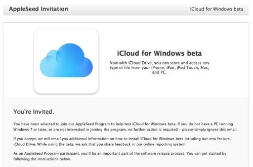 Apple Begins Inviting AppleSeed Members to Test iCloud for Windows Beta