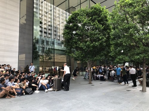 Customers Waiting in Line at Apple Retail Stores Around the World for iPhone 11, 11 Pro, and 11 Pro Max