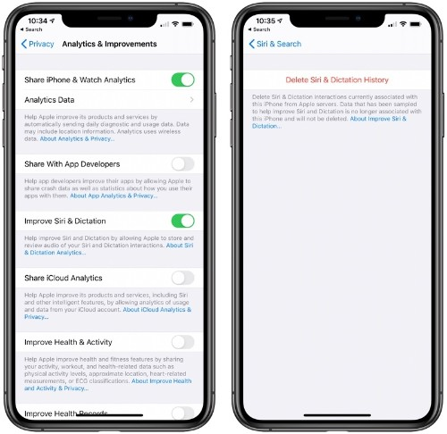 Apple Adds Option to Delete Siri History and Opt Out of Sharing Audio Recordings in iOS 13.2