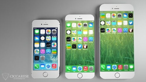 Tapered iPhone 6 Concept in Larger Sizes Shows New Home Screen Possibilities