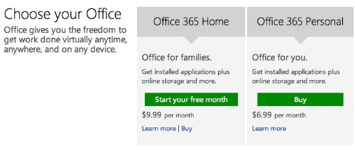 Microsoft Launches 'Office 365 Personal' Plan for One Mac and One iPad at $69/Year