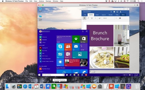 Parallels Desktop 10 Update Brings Windows 10 Technical Preview to Macs