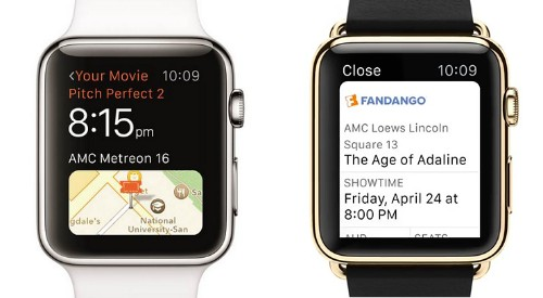 Fandango Announces Apple Watch Movie Ticket App