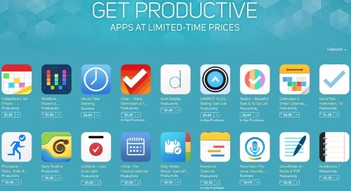 Apple Launches 'Get Productive' Promotion for iOS and Mac With Discounted Productivity Apps