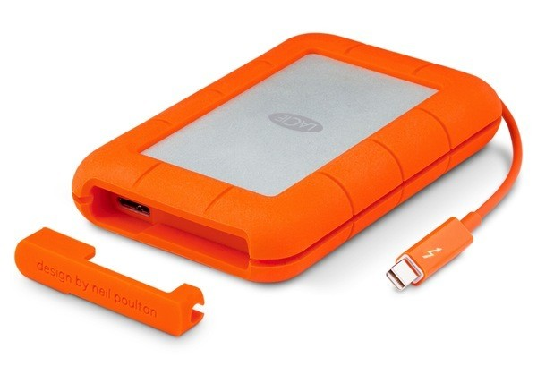 LaCie Upgrades Rugged Hard Drive With Integrated Thunderbolt Cable