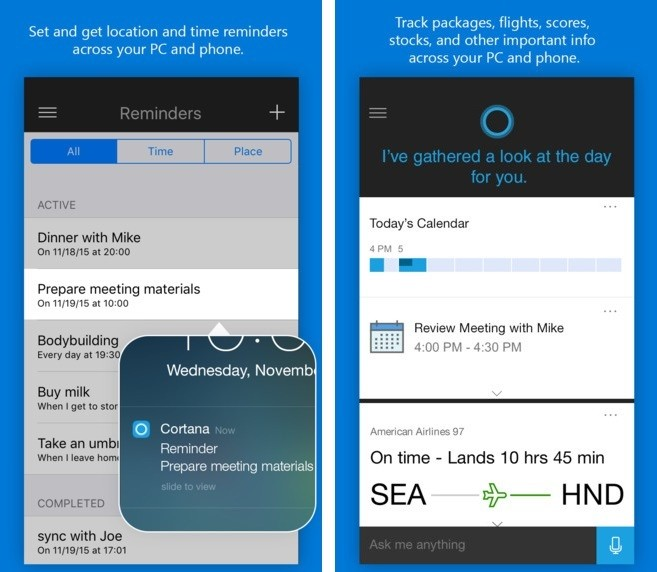 Microsoft Launches Official 'Cortana' App for iOS and Android Devices