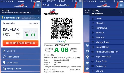 Southwest Airlines Updates iOS App, Enables Mobile Boarding Pass Feature at 28 Airports