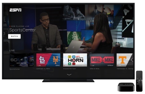 ESPN Updates Apple TV App With New Interface, Live Streaming Auto-Play, and On Demand Videos