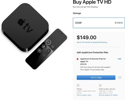Fourth-Generation 1080p Apple TV Gets a New 'Apple TV HD' Name