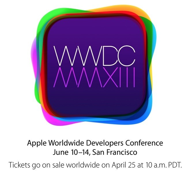 Apple Announces WWDC 2013 Scheduled for June 10-14, Tickets on Sale Tomorrow
