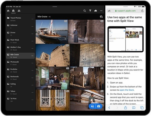 Adobe Lightroom Updated With Split View Support on iPad