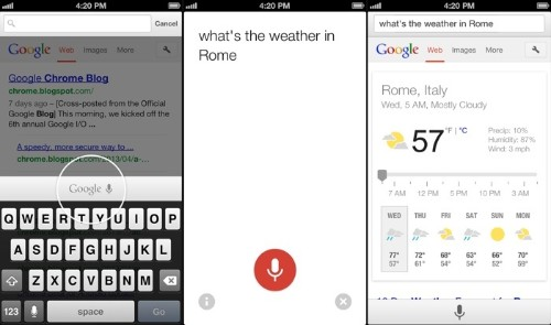 Voice Search Coming Soon to Chrome for iOS