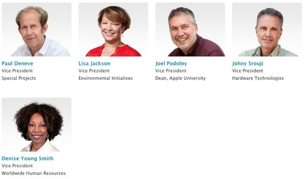Apple Adds Five Vice Presidents, Including Two Women, to 'Apple Leadership' Press Page