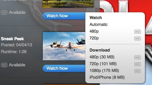 Apple Removes Download Options From Quicktime Trailers Website