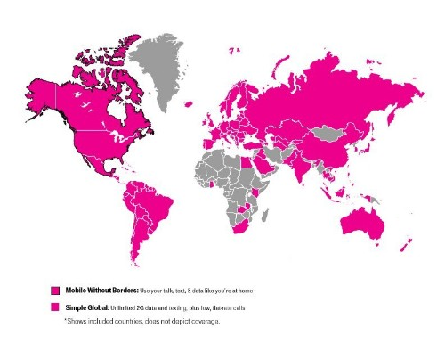 T-Mobile Expands Simple Global Coverage to All of Europe and South America