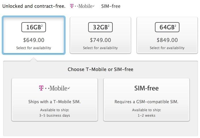 Apple Begins Offering Unlocked, SIM-Free iPhone 5s Models in U.S. with 1-2 Week Shipping