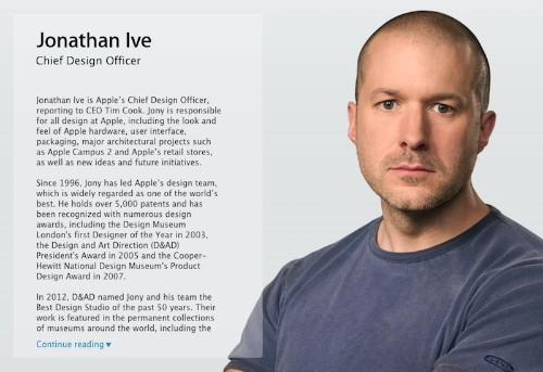 Jony Ive Officially Takes 'Chief Design Officer' Title at Apple