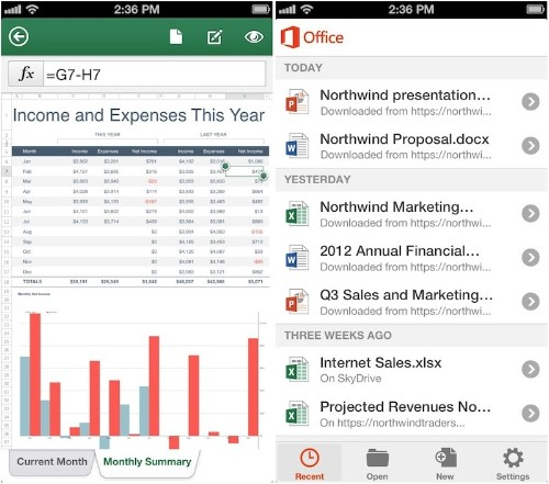 Microsoft Brings 'Office Mobile for Office 365 Subscribers' to iPhone