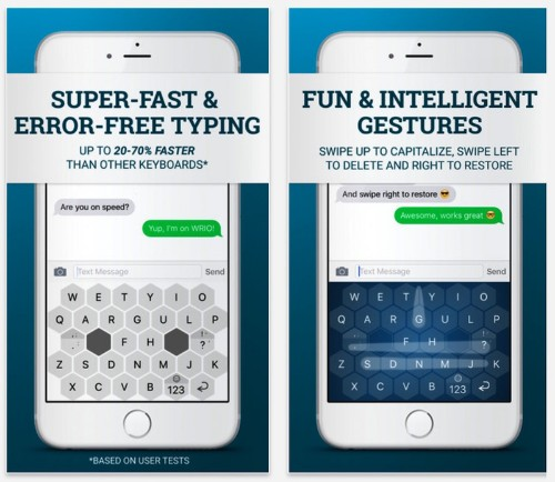 Wrio Keyboard for iOS Claims up to 70% Faster Typing Speed