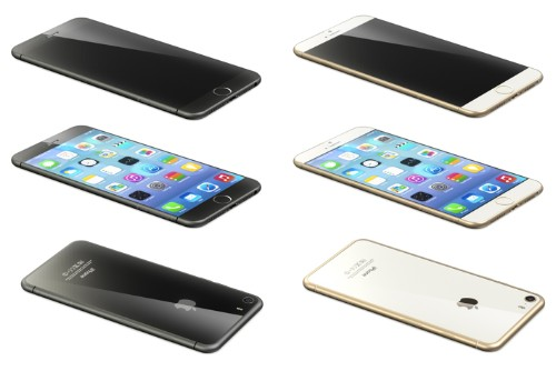 Renderings Based on Leaked Schematics Show Sapphire Glass-Backed iPhone 6 'Air'