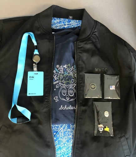WWDC 2019 Swag Includes Reversible Jacket, Magnetic Pins, and Special T-Shirt for Scholarship Winners