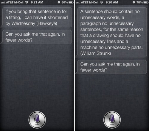 Siri Updated to Respond to Long Questions With Quotes on Brevity